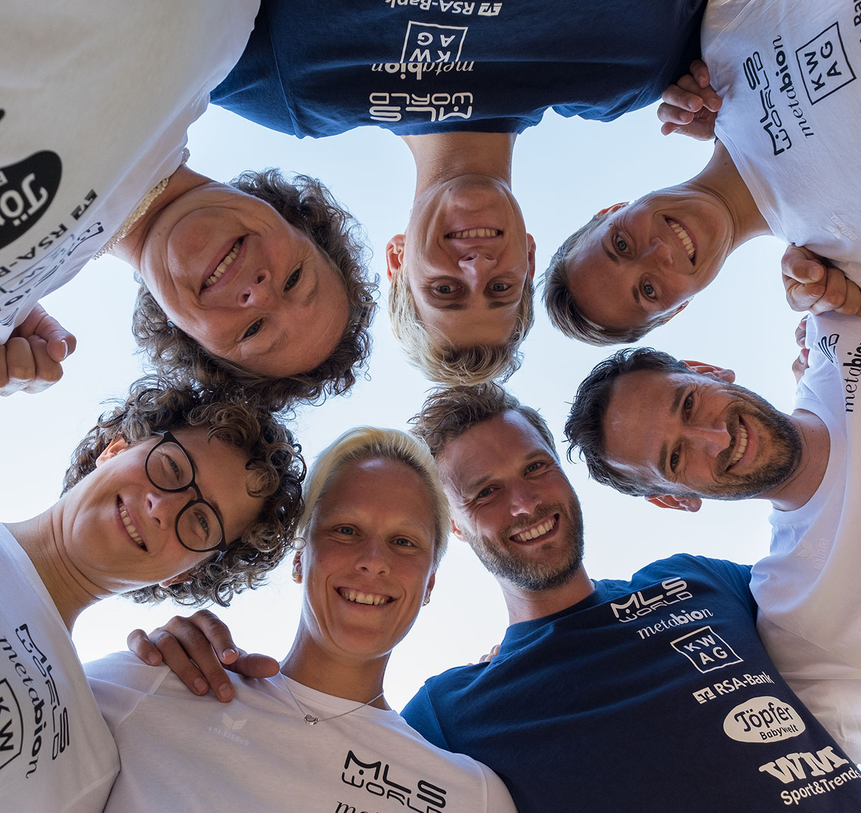 Teamfoto Beachvolleyballteam Dollinger Kulzer