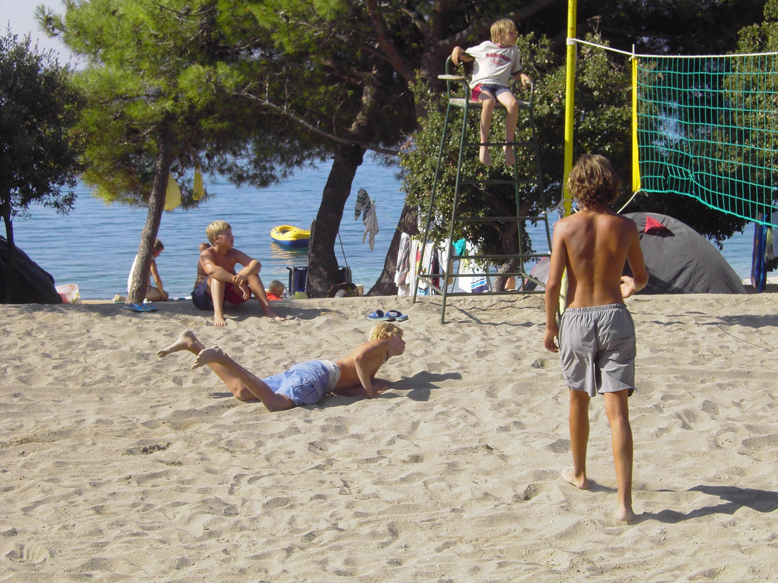 Armin Dollinger Beachvolleyball in jungen Jahren.