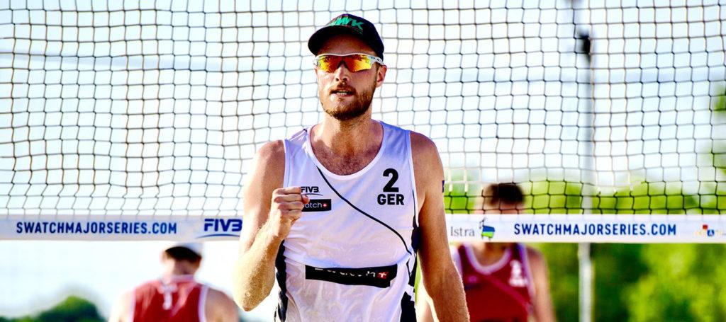 Jubel bei dem Beachvolleyballer Armin Dollinger