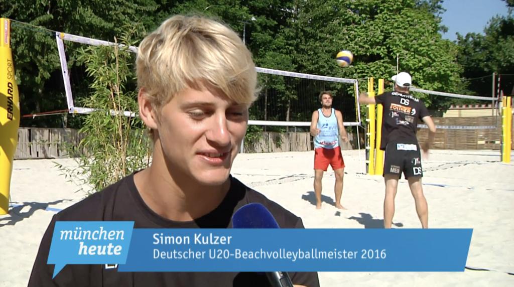 Beachvolleyballer Simon Kulzer im Interview für münchen heute